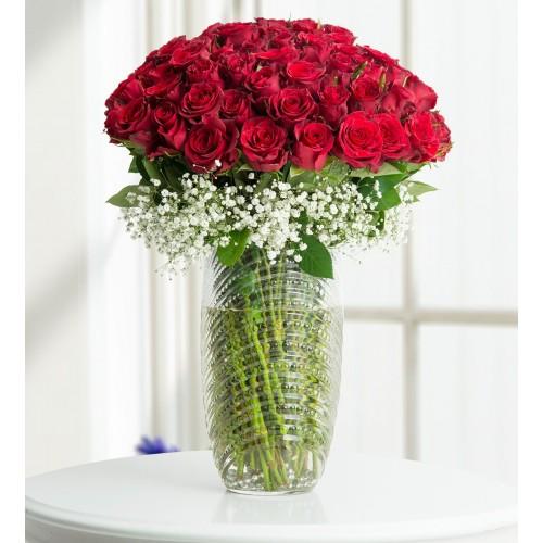 Aşkın Gerçek Yüzü 100 Kırmızı Güller