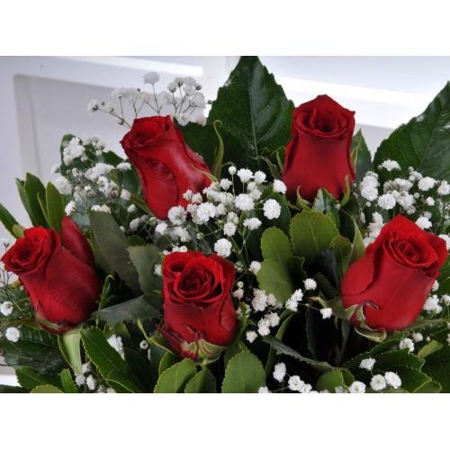 Gün Batımı 5 Kırmızı Gül Çiçek Arajmanı