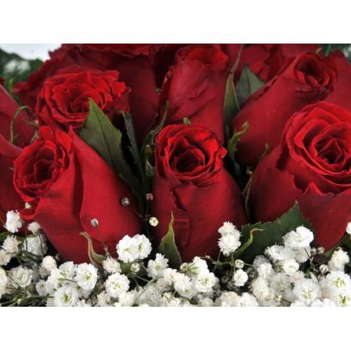Vazo da 21 Kırmızı Gül Arajmanı